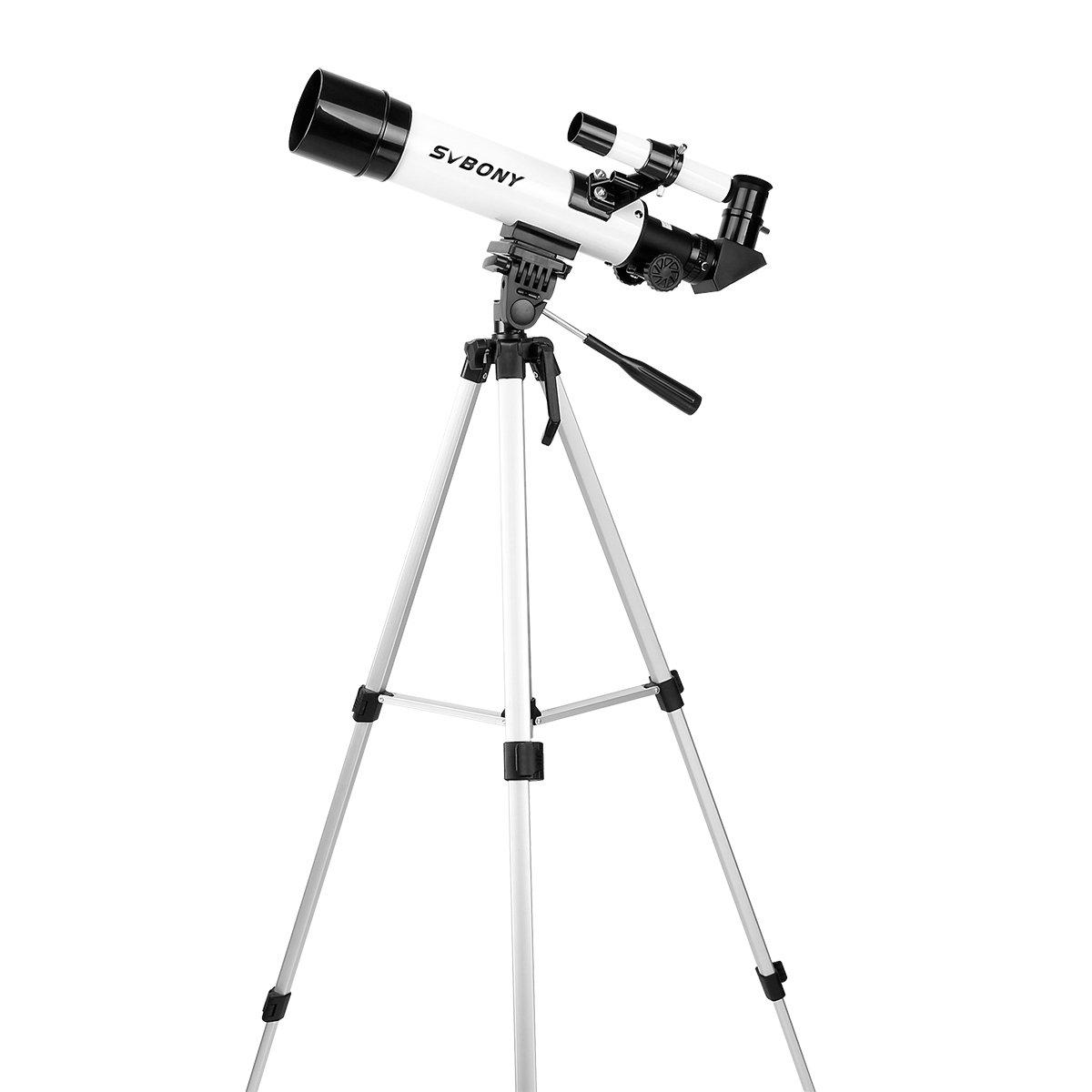 SVBONY SV25 Telescope for Astronomy 60mm Refracting Telescope with Aluminum Tripod for Stargazing