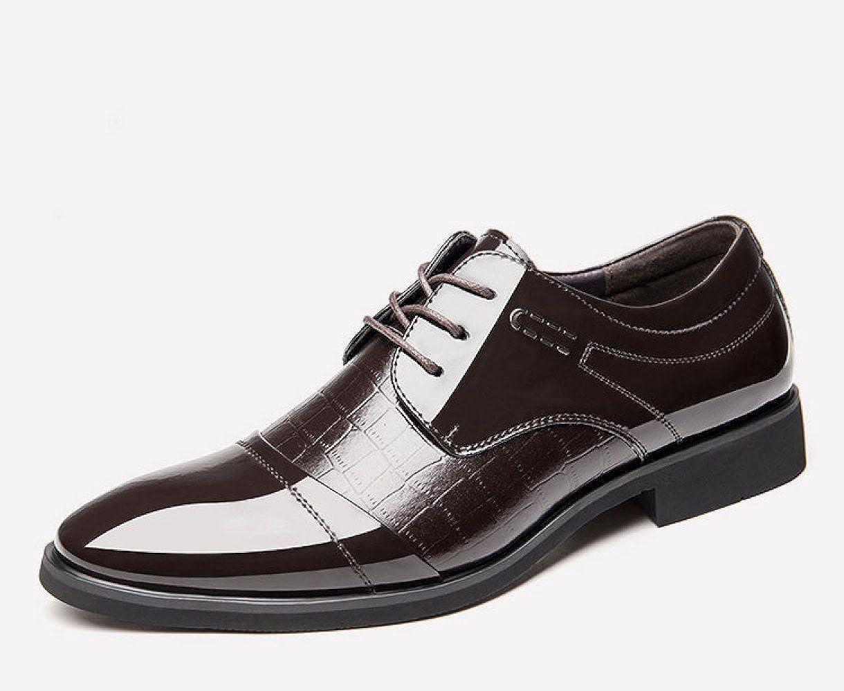 LEDLFIE Herrenschuhe Klassische Spitze Schuhe Business-Kleid Herrenschuhe Einzelne Schuhe Spitze Braun 42c669
