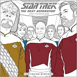amazoncom star trek the next generation adult coloring book continuing missions 9781506705057 cbs books - Star Trek Coloring Book
