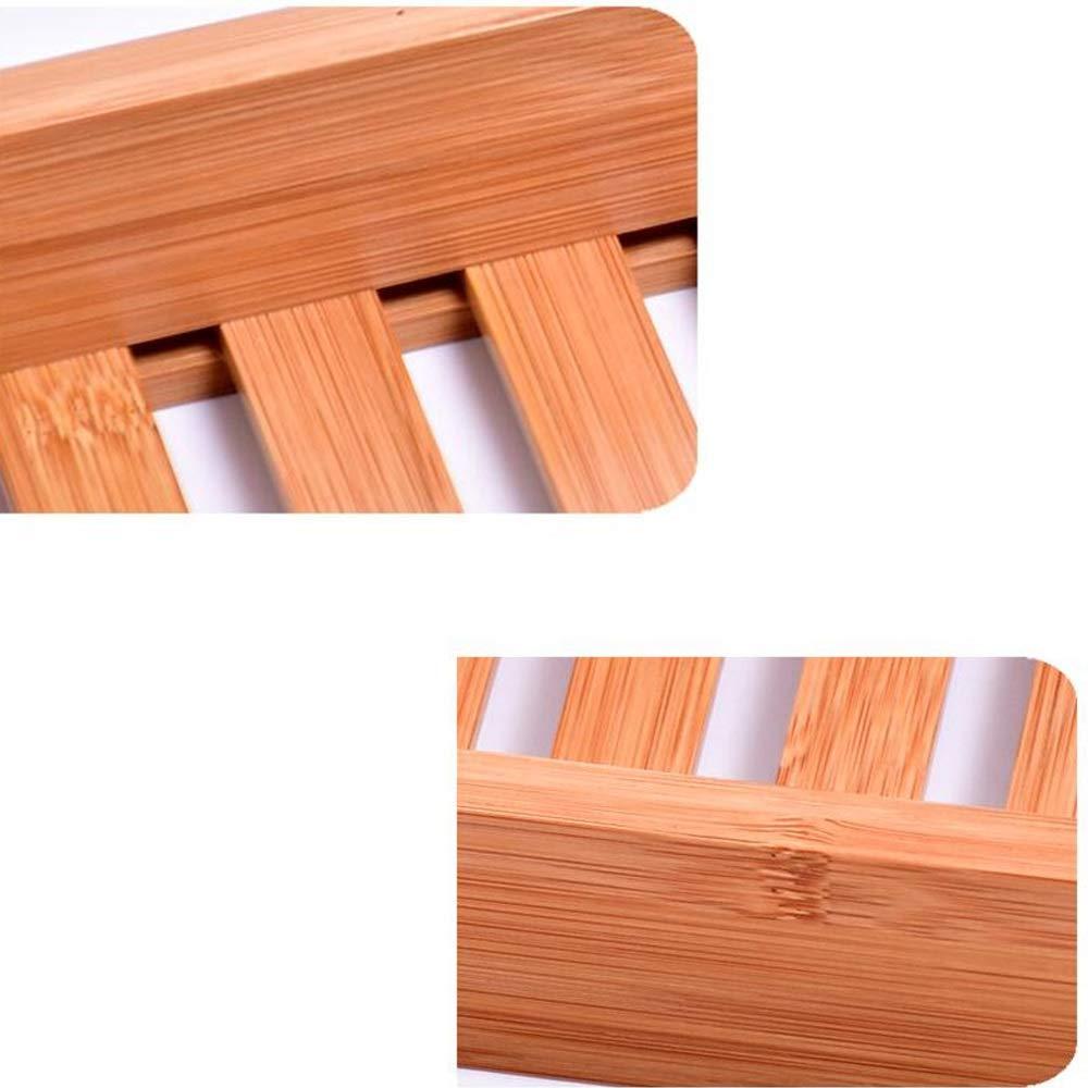 Bathtub Trays HAIZHEN, 100% Natural Bamboo Wooden Bathtub Caddy Bathroom Shower Organizer for Shampoo, Soap, Razors by Bathtub Trays (Image #5)