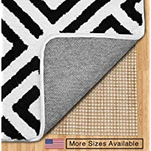 The Original Gorilla Grip (TM) Non-Slip Area Rug Pad, Made In USA, Available in 3x5, 5x8, 4x6, 2x4, 2x8, 6x9, 8x10, 8x11, 9x12, 10x14, 12x15, Rounds and Squares, Extra Cushion, Locks Rugs In Place, Hard Floor Protector, 10 Year Guarantee, No Chemical Odor, Great As Drawer Liner. (8x11)