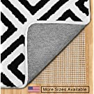 Gorilla Grip Non-Slip Area Rug Pad for Hard Floors, Made in the USA, Extra Cushion (2x8)