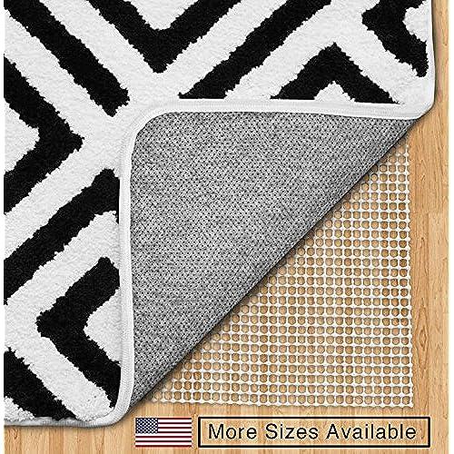 Rug grippers for hardwood floors amazon gorilla grip 3x5 feet non slip area rug pad for hard floors ppazfo
