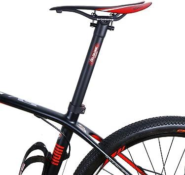 Super luz Full Carbon Tija Tija de sillín de MTB bicicleta de ...