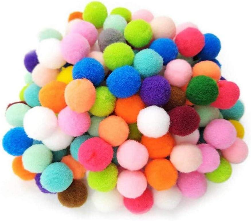 rongweiwang 100 St/ücke mischten Farben-DIY Bobbles DIY Polyester Bommel Garland Hut Kleidung Handwerk DIY Stricken Polyester-Kugeln
