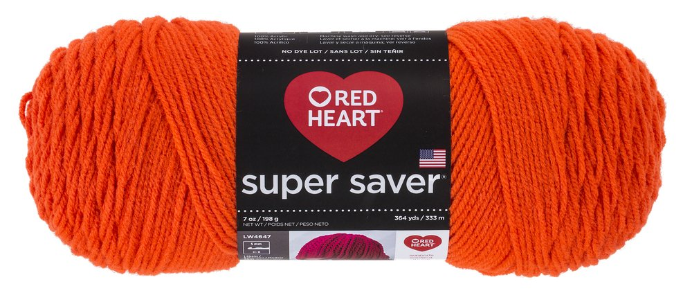 RED HEART Super Saver Yarn, White Coats & Clark E300.0311