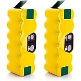 LiBatter 2X 14.4V 4500mAh Ni-MH Aspiradoras de Repuesto Baterías para iRobot Roomba R3 500 600 700 800 Serie 80501 4419696