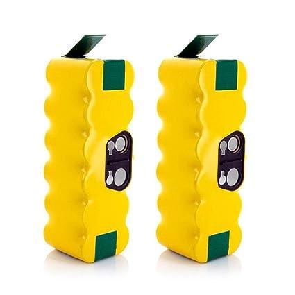 LiBatter 2X 14.4V 4500mAh Ni-MH Aspiradoras de Repuesto Baterías para iRobot Roomba R3