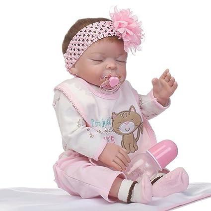 f836ea8574cd7 Bambola in vinile per bambole in vinile da 50 cm Bambola per neonati Bambola  per neonati (colore  colorato)  Amazon.it  Prima infanzia
