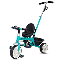 Baybee Blazer 2 in 1 Convertible baby Tricycle kid's Trike with Parental adjust push handle children tricycle/bicycle with Seat Belt Kid's Ride on Outdoor   Suitable For Boys & Girls - (1 to 5 Years) Plug and Play Tricycle for Kids/Baby ( Blue )