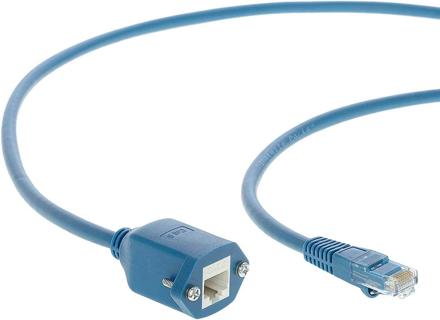 Blue 550MHZ 10Gigabit//Sec Network//High Speed Internet Cable Ethernet Cable CAT6 Cable Panel-Mount 4 FT Professional Series 5 Pack InstallerParts