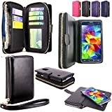 This For Samsung Galaxy S5 I9600 SM-G900 AT&T / T-Mobile PU leather flip Wallet Bag case fits your phone perfectly, offering maximum protection yet access to all your phones features without having to remove it from the case. Protect your...