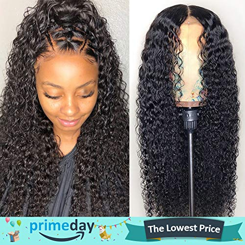 CYNOSURE Lace Front Wigs Human Hair Pre Plucked Brazilian Kinky Curly Lace Frontal Wig with Baby Hair 9A Natural Hair Wigs for Black Women(16, Curly Wigs) - Human Hair Quality Wig