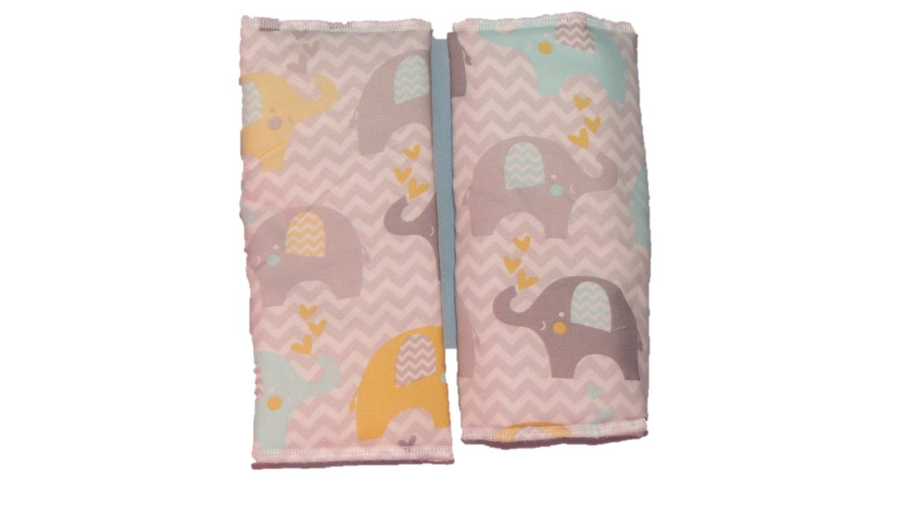 Grey Chevron Elephant Print Baby Carrier Suck Drool Pads Jojo' s Boutique droolpad3576