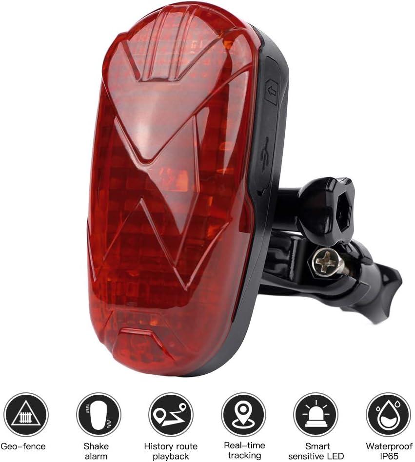 GPS Rastreador de Bicicleta, LED Mini Localizador GPS Anti-Robo IP65 Impermeable Tracker Motion Shock SOS luz de Alarma Bicicleta Oculta GPS Localizadores TK906