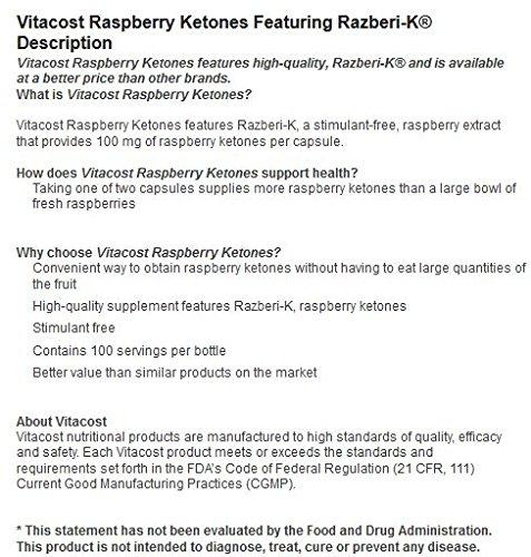 Vitacost Raspberry Ketones Featuring Razberi-K -- 100 mg - 100 Capsules by Vitacost Brand (Image #5)