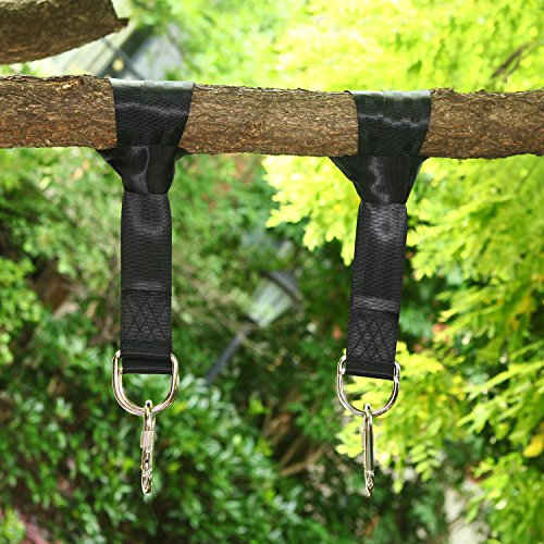 Two 4ft Swing Strap Adjustable Durable and Safety Hanging Rope with Heavy-duty Hooks and Carabiners