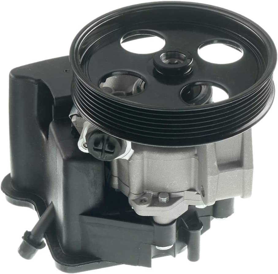 A-Premium Power Steering Pump with Pulley Compatible with Mercedes-Benz CL203 W203 C230 C320 2003-2005