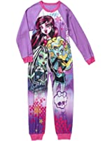 Monster High Girls One Piece Fleece Sleeper Pajama