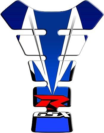 Tankpad Motorrad Draht Muster Tankschutz Polymer Für Suzuki Gsxr 600 750 1000 Blau Auto