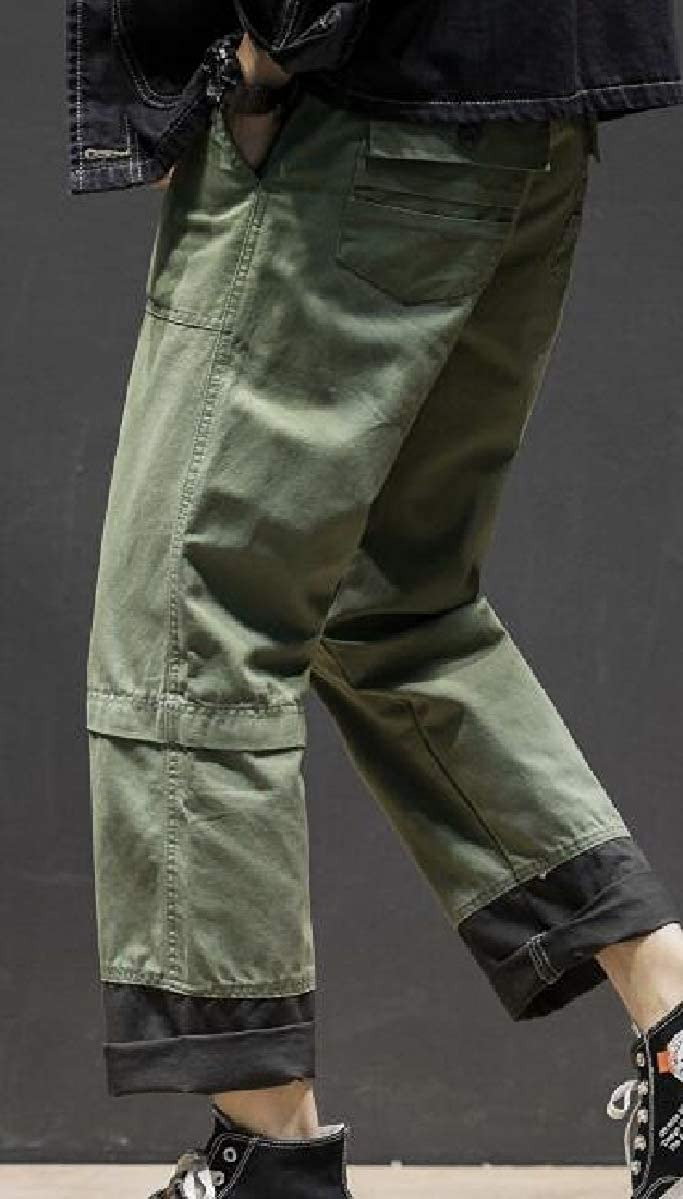 Tymhgt Men Stylish Cargo Pants Multi-Pocket Straight Leg Work Pants