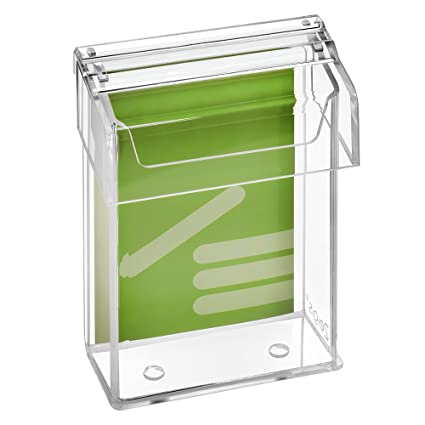 aus glasklarem Acrylglas f/ür Au/ßen mit Deckel wetterfest DIN A4 Prospektbox//Prospekthalter // Flyerhalter im Hochformat Zeigis/®