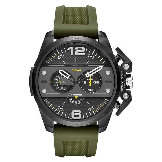 Diesel Reloj Analógico para Hombre de Cuarzo con Correa en Caucho 4053858618862: Amazon.es: Relojes