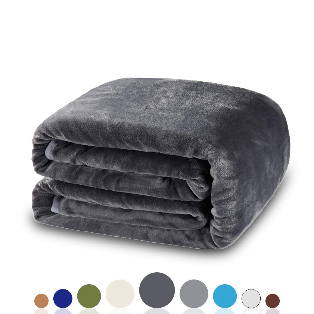 (Queen (230cm -by-230cm), Dark Grey) - Balichun Luxury 330 GSM Fleece Blanket Super Soft Warm Fuzzy Lightweight Bed or Couch Blanket Twin/Queen/King Size(Queen,Dark Grey) B01CSA8OZW ダークグレー Queen (90-Inch-by-90-Inch)