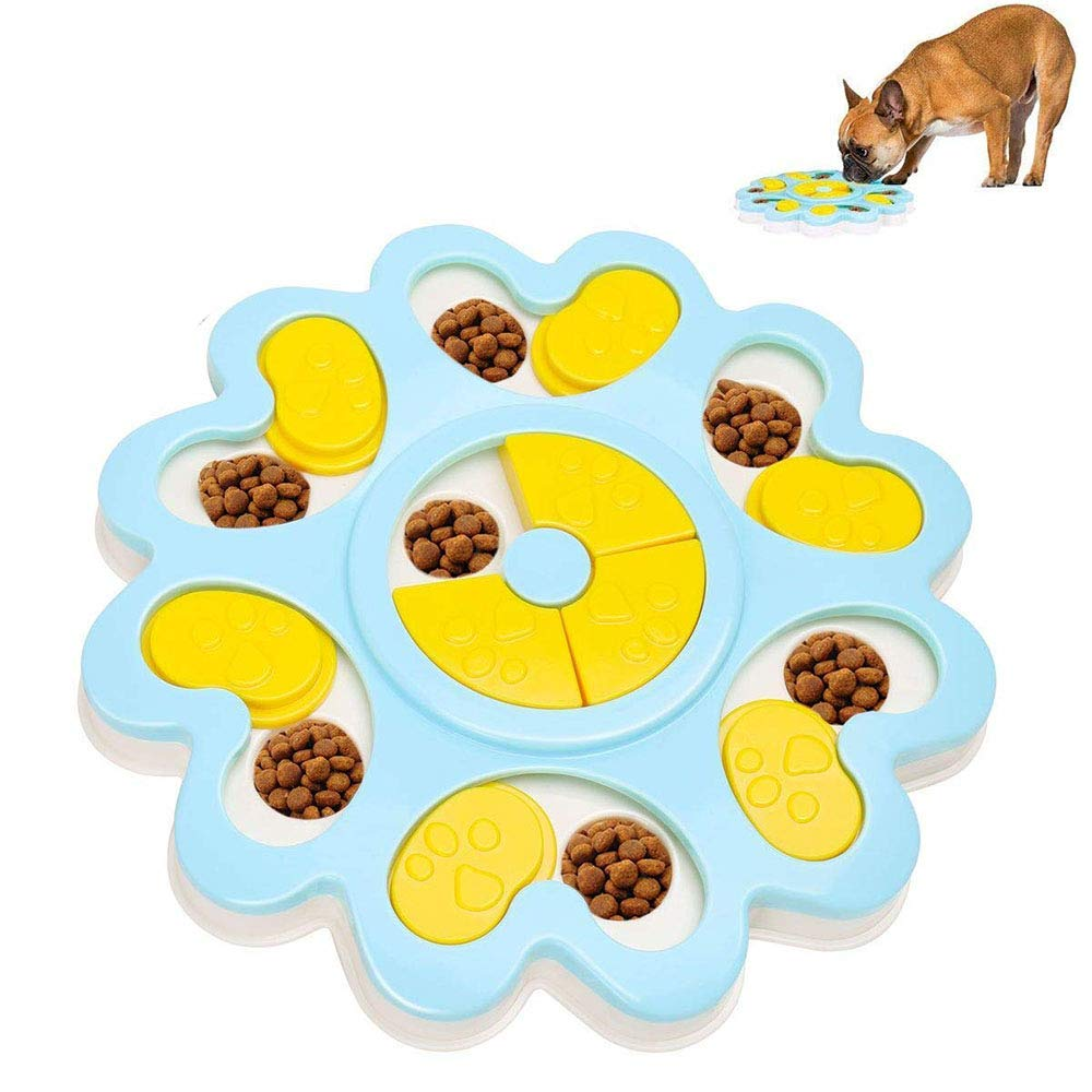 Slow Feeder Dog Bowl, Non Slip Interactive Slow Feeding Bowl, Anti-Choking Anti-Gobble for Small Medium Large Dogs and Cats by CWH&WEN