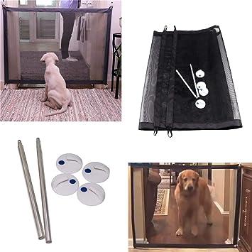 QJXF Valla De Mascotas Anti-Colisión Ajustable Malla Pet Auto Barrera Seguridad Aislamiento Protección Neta