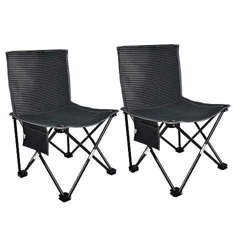 MLX Juego de sillas Plegables portátiles, Taburete pequeño ...