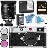 Leica M10 Digital Rangefinder Camera (Silver) Summilux-M 24mm f/1.4 ASPH. Lens + 72mm 3 Piece Filter Kit + 64GB SDXC Card + Card Reader + Deluxe Cleaning Kit + MicroFiber Cloth Bundle