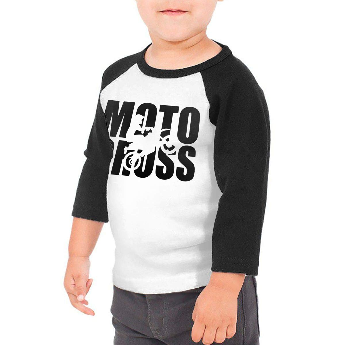 Manlee Motocross Evolution Unisex 100/% Cotton Childrens 3//4 Sleeves T-Shirt Top Tees 2T~5//6T