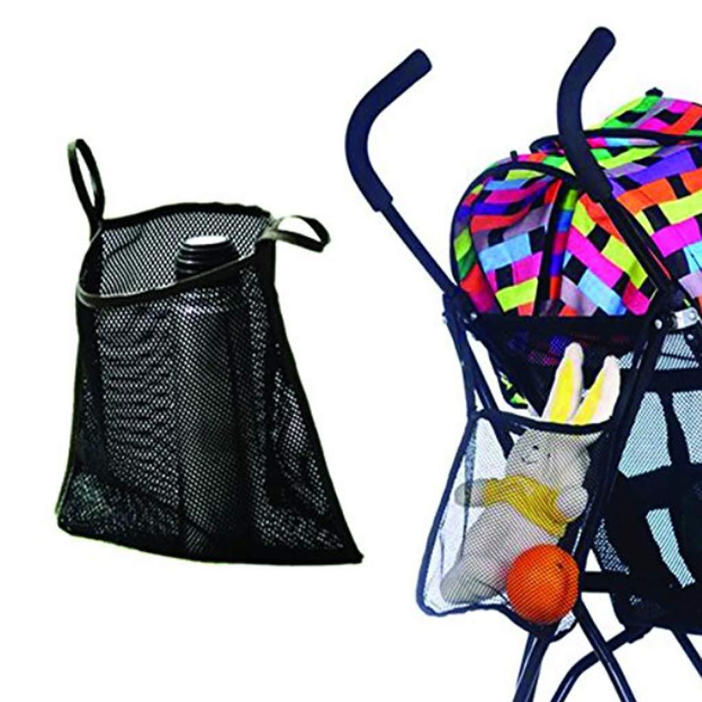 Fenteer Baby Stroller Pram Hanging Bags Pushchair Mesh Bag Umbrella Car Accessories