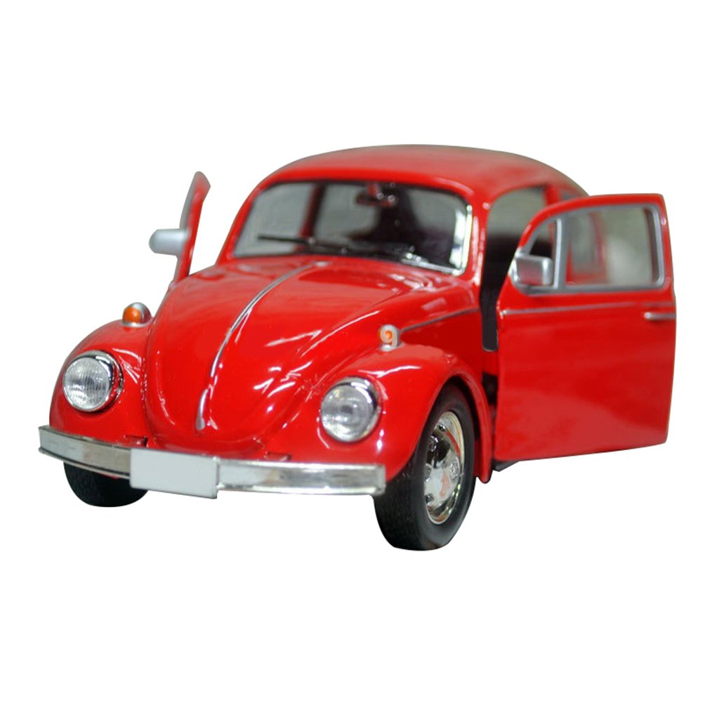 Powerfulline Vintage Beetle Diecast Pull Back Car Model Toy for Children Gift Decorations (Black)