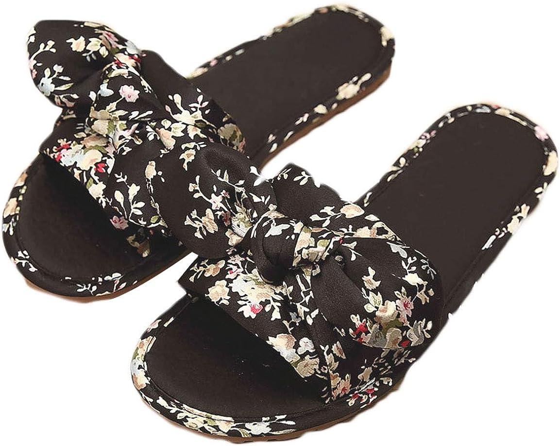 Sandales et Pantoufles pour Femme Satin Bow Sandales pour la Maison Pantoufles de mari/ée pour Femme