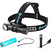 Olight H2R Headlamp LED Up to 2300 lumens Rechargeable Flashlight Customized Battery - Magnetic USB Charging Cable…