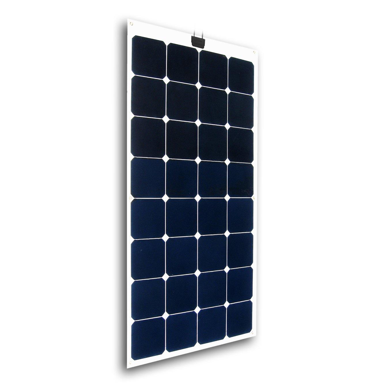 Cleversolar 810120SM Flexible Monokristalline Solarmodul, 100 W