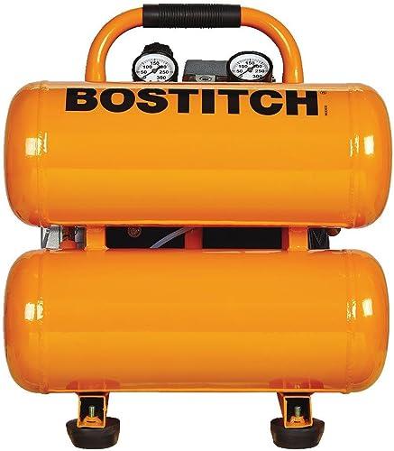 BOSTITCH CAP2041ST-OL 4 gallon 135 PSI Oil-Lubricated Stack Tank Compressor