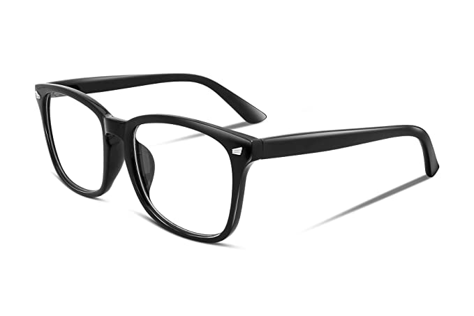 7e4965089b Image Unavailable. Image not available for. Color  FEISEDY Square Non  Prescription Eyeglasses Clear Lens Unisex Glasses ...
