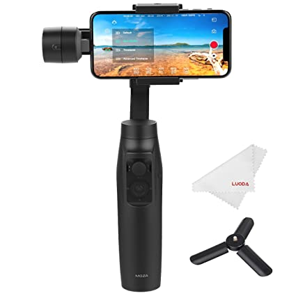 Moza Mini-MI 3-Axis Smartphone Gimbal Stabilizer, Wireless Phone Charging, Max Load 10.6 oz, Multiple Subjects Detection, Inception Mode, Timelapse ...