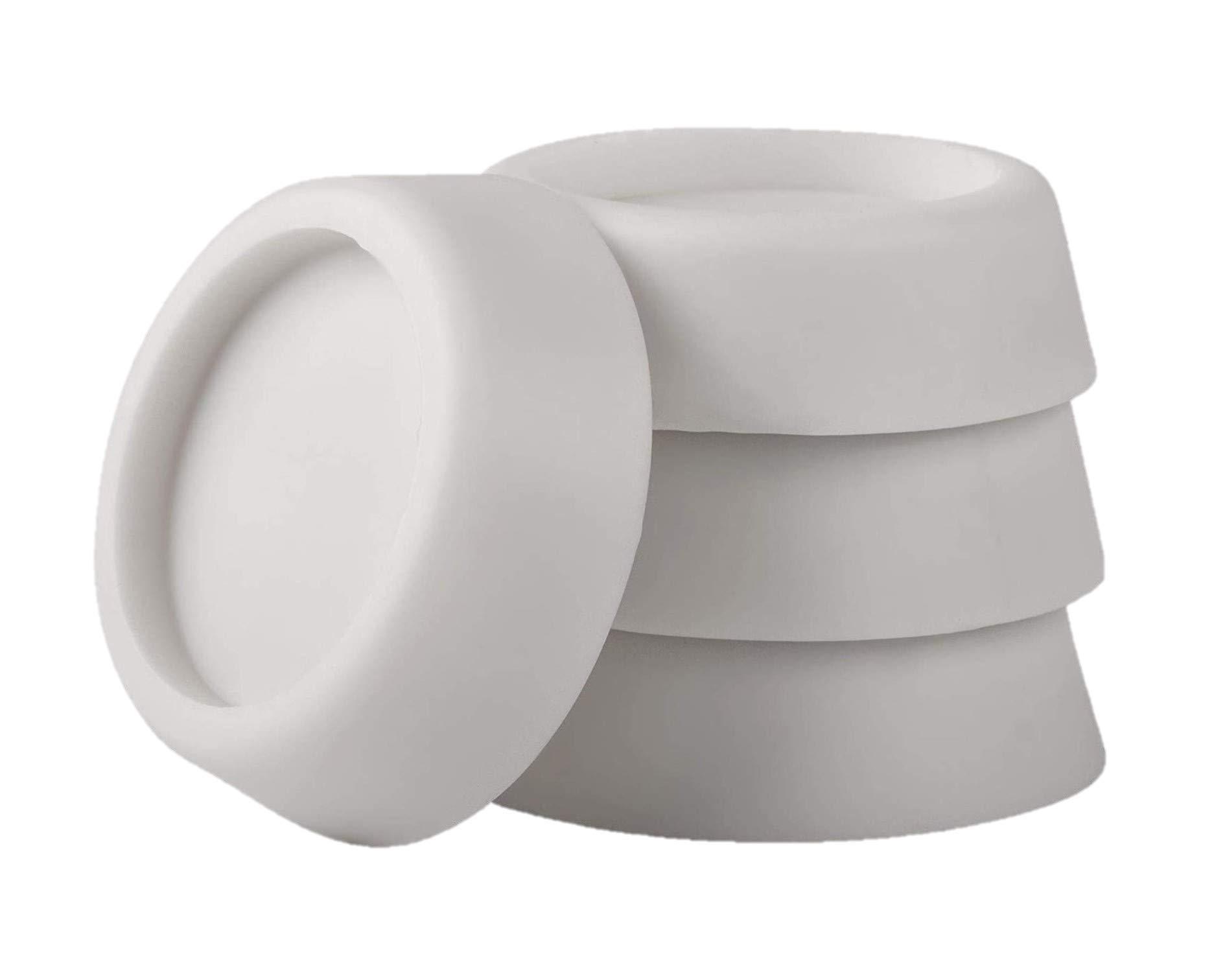 LAZER ELECTRICS Universal Washing Machine anti vibration Feet Pack Of 4 - White (64mm x 57mm x 45mm)