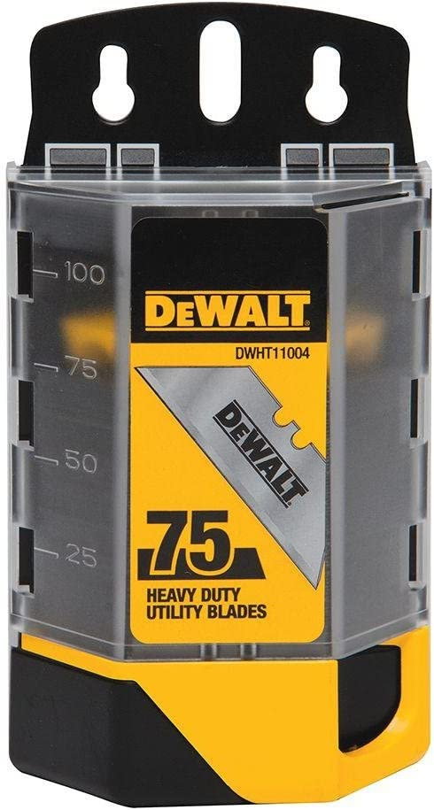 Dewalt DWHT11004 2 Pack 75 Pc. Heavy Duty Utility Blades