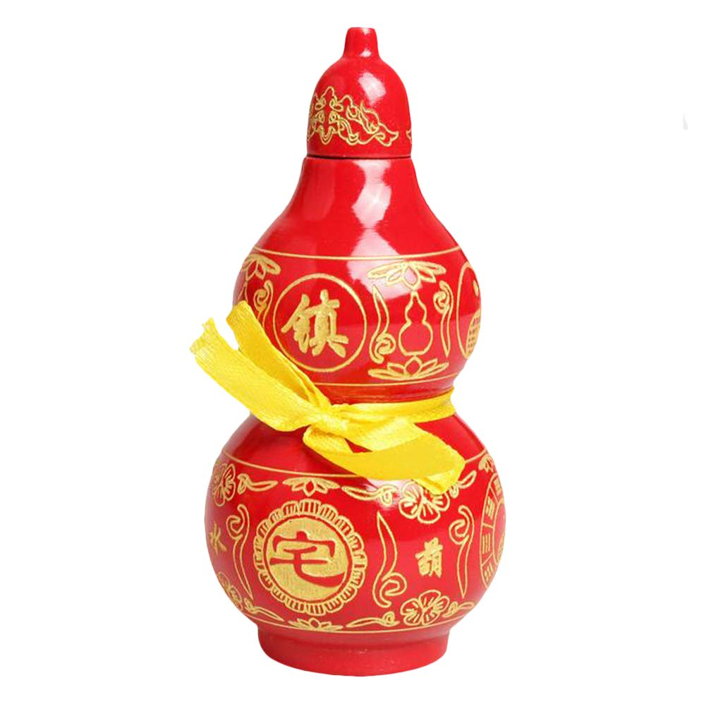 Feng Shui Walnut Gourd Chinese Good Luck Wu Lou/Cucurbit for Wealth Peaceful Statue Charm Amulet Home Decor Gift (Good Luck Wu Lou, 12inch)