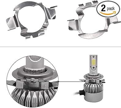 2Pcs LED Headlight Light Bulb Adapter Holder Retainer For Audi BMW Nissan VW H7