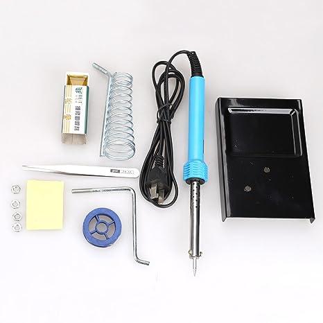 Tenflyer 6 en 1 eléctrico del soldador del soporte Herramienta Pinzas Kit 30W soldadura con electrodo