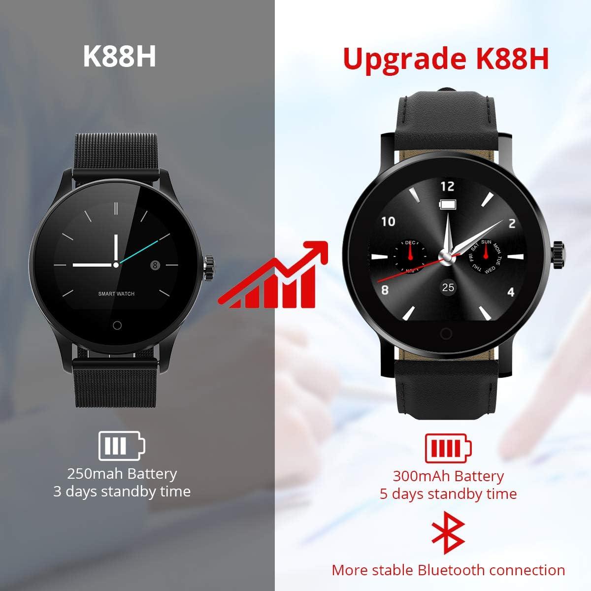DIGGRO K88H Smartwatch Reloj Inteligente Podómetro Monitor de ...