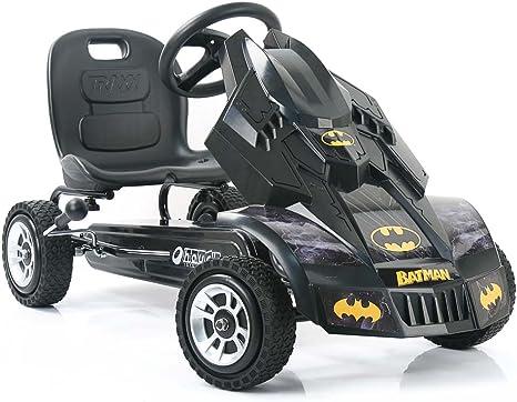 Batmobile Pedal Go Kart, Superhero Ride-On Batman Vehicle - Gift for Kids