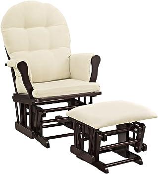 Windsor Glider and ottoman w/beige cushion