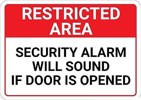 Mesllings Señal metálica de Advertencia de Seguridad, área ...